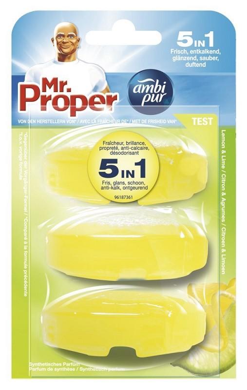 mr proper wc stein nachf ller lemon lime 3x55ml ebay. Black Bedroom Furniture Sets. Home Design Ideas